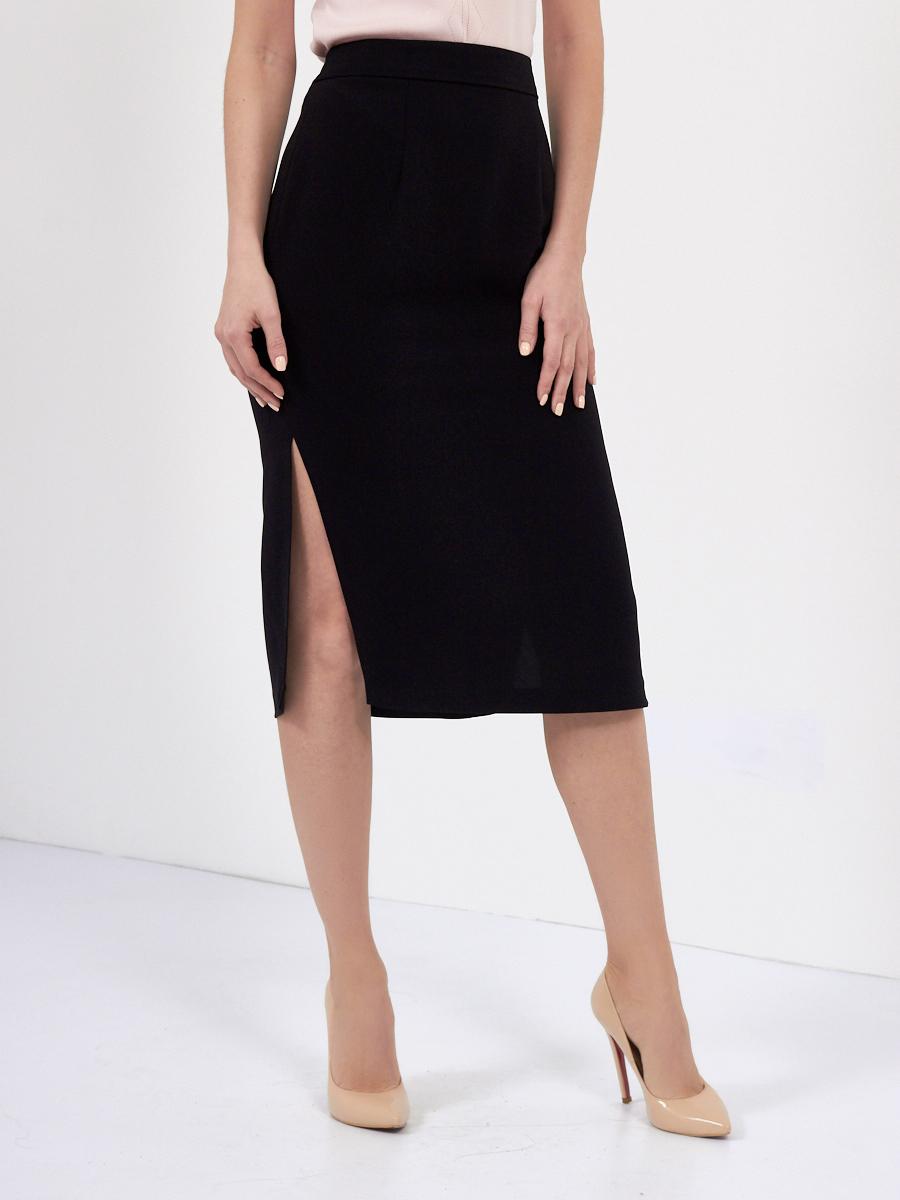 f101fddd184 Классическая юбка с завышенной талией и боковыми разрезами купить в интернет  магазине - Glenfield